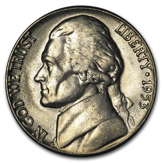 1953-D Jefferson Nickel BU