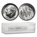 1953-D Roosevelt Dime 50-Coin Roll BU