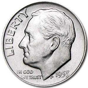 1953-D Roosevelt Dime BU
