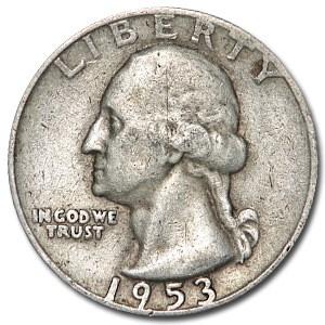 1953-D Washington Quarter VG/XF