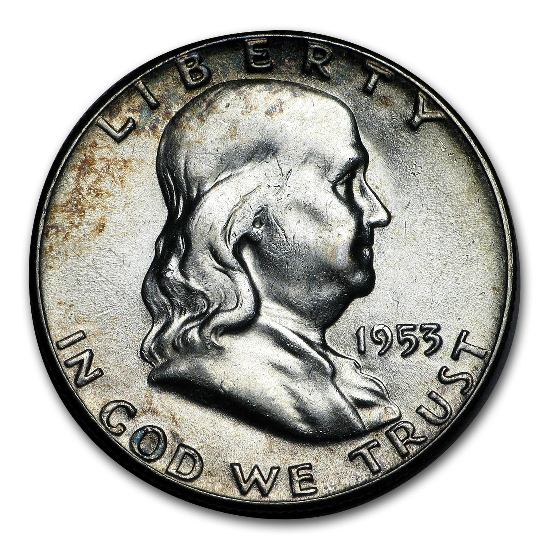 1953 P Franklin Half Dollar Choice BU Tough Date