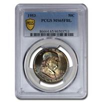 1953 Franklin Half Dollar MS-65 PCGS (FBL)