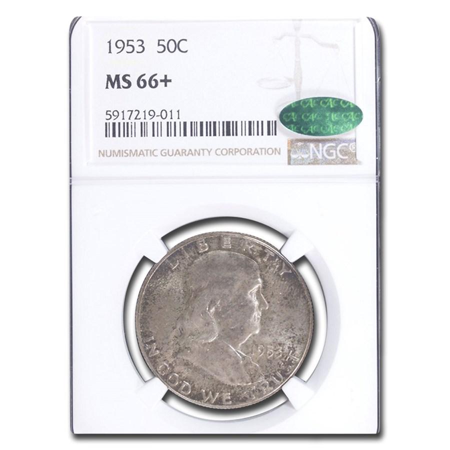 1953 Franklin Half Dollar MS-66+ NGC CAC
