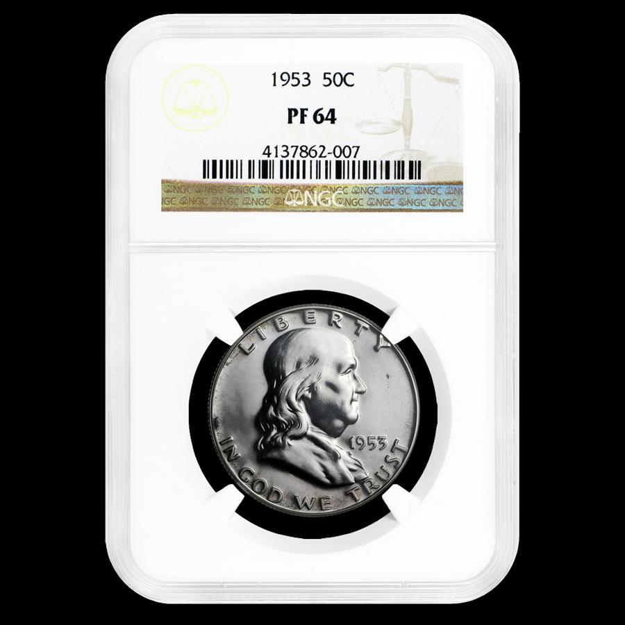 1953 Franklin Half Dollar PF-64 NGC