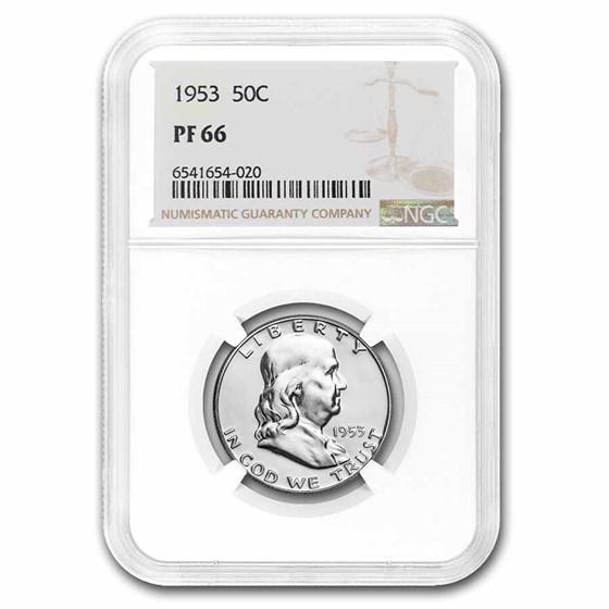 1953 Franklin Half Dollar PF-66 NGC