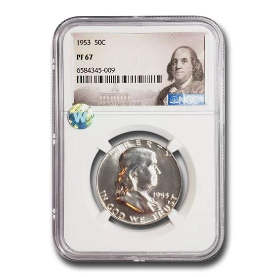 1953 Franklin Half Dollar PF-67 NGC