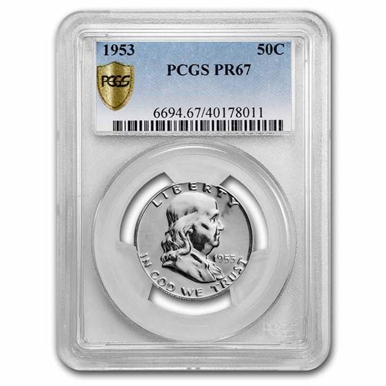 1953 Franklin Half Dollar PR-67 PCGS