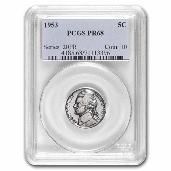 1953 Jefferson Nickel PR-68 PCGS