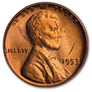 1953 Lincoln Cent BU (Red)