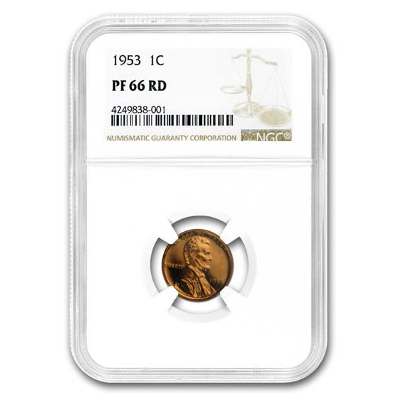 1953 Lincoln Cent PF-66 NGC (Red)
