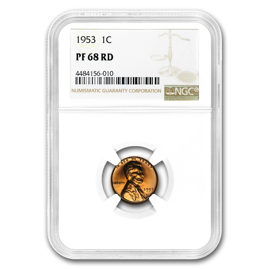 1953 Lincoln Cent PF-68 NGC (Red)