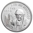 1953 Mexico Silver 5 Pesos Hidalgo XF (ASW .6431 oz)