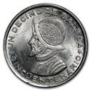1953 Panama Silver 1/10 Balboa BU
