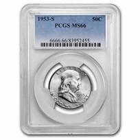 1953-S Franklin Half Dollar MS-66 PCGS
