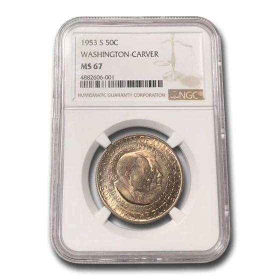 1953-S Washington-Carver Half Dollar Commem MS-67 NGC