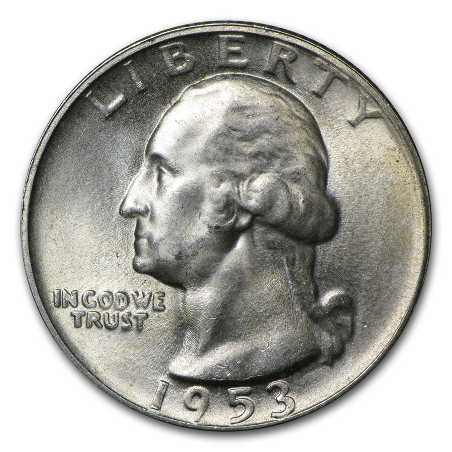 1953-S Washington Quarter BU