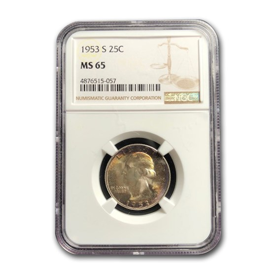1953-S Washington Quarter MS-65 NGC