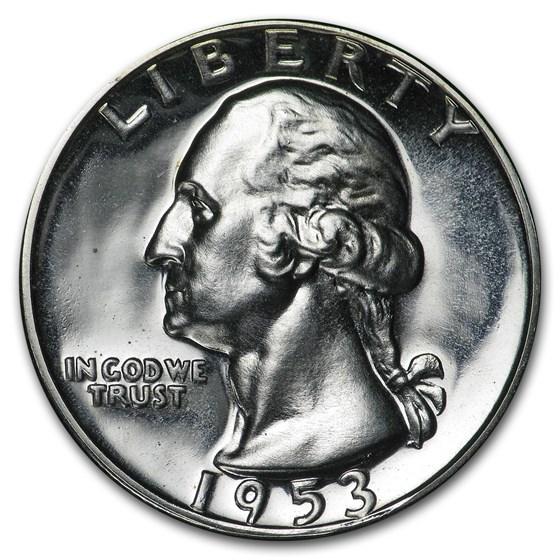1953 Washington Quarter Gem Proof