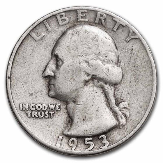 1953 Washington Quarter VG/XF