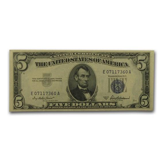 1953's $5.00 Silver Certificate XF