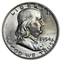 1954-D Franklin Half Dollar AU