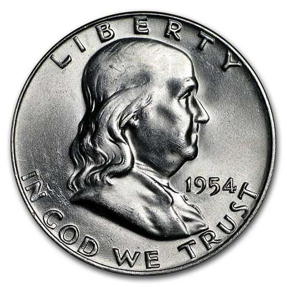 1954-D Franklin Half Dollar BU