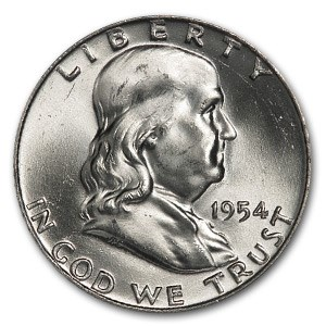 1954-D Franklin Half Dollar MS-64 (FBL)