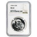 1954-D Franklin Half Dollar MS-64 NGC