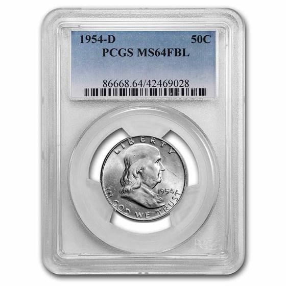 1954-D Franklin Half Dollar MS-64 PCGS (FBL)
