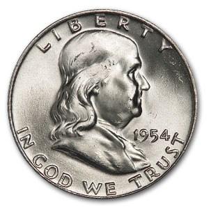 1954-D Franklin Half Dollar MS-64