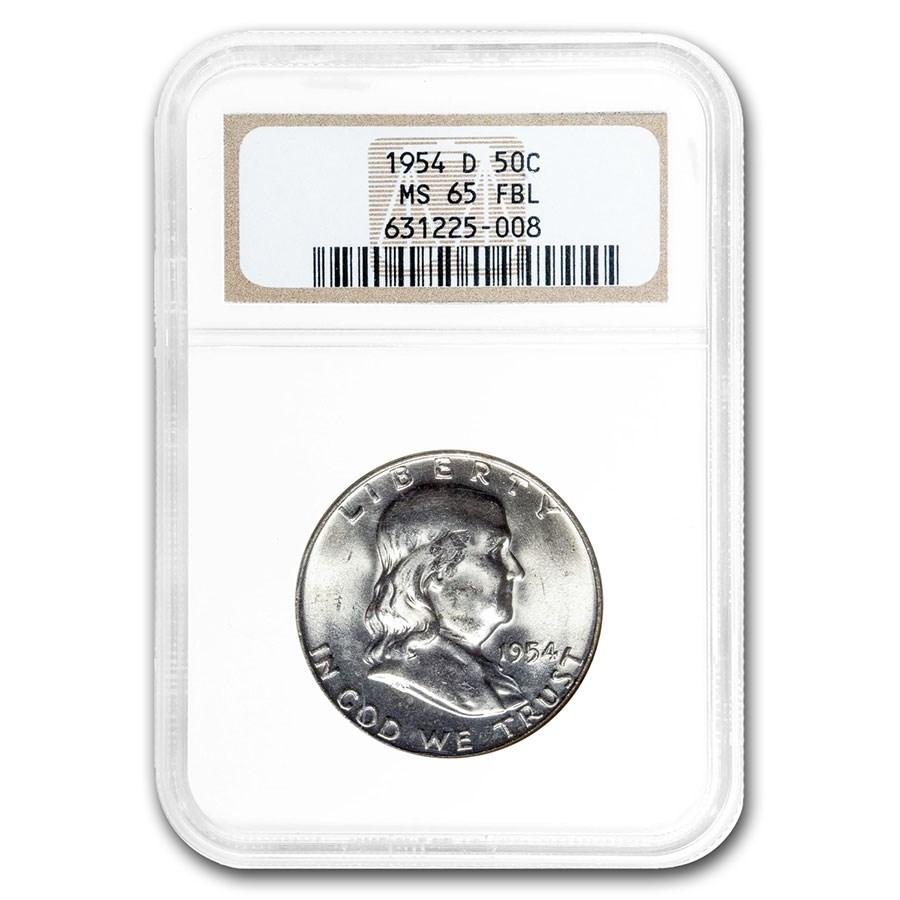 1954-D Franklin Half Dollar MS-65 NGC (FBL)
