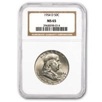 1954-D Franklin Half Dollar MS-65 NGC