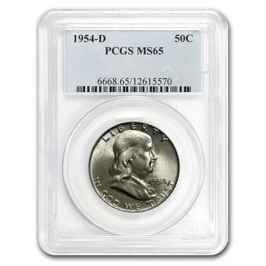 1954-D Franklin Half Dollar MS-65 PCGS