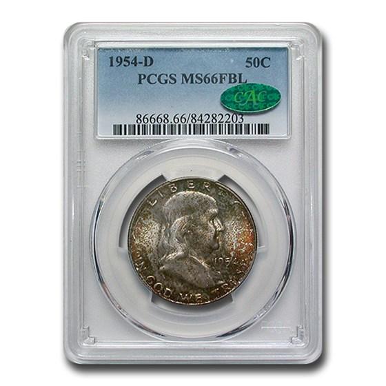 1954-D Franklin Half Dollar MS-66 PCGS (FBL)