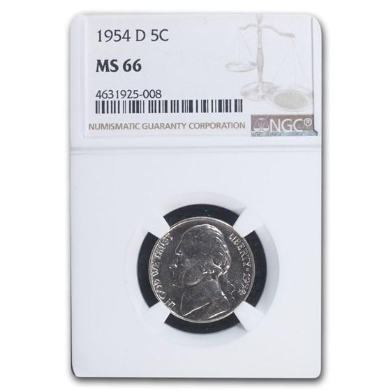1954-D Jefferson Nickel MS-66 NGC