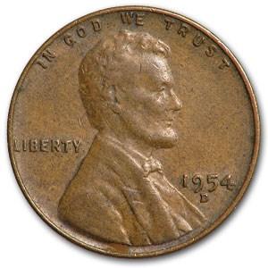 1954-D Lincoln Cent Fine+