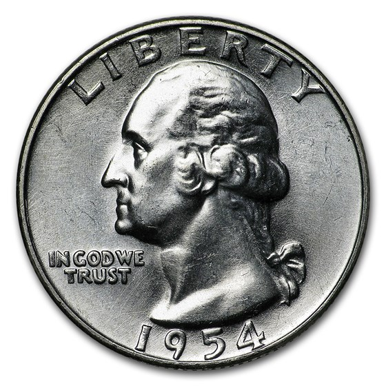 1954-D Washington Quarter BU