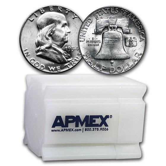 1954 Franklin Half Dollar 20-Coin Roll BU