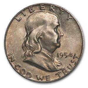 1954 Franklin Half Dollar AU