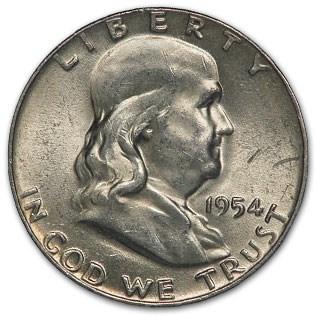 1954 Franklin Half Dollar Fine/XF