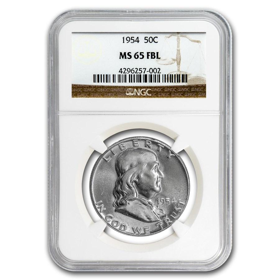 1954 Franklin Half Dollar MS-65 NGC (FBL)