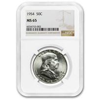 1954 Franklin Half Dollar MS-65 NGC