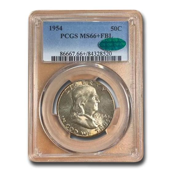 1954 Franklin Half Dollar MS-66+ PCGS CAC (FBL)