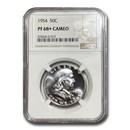 1954 Franklin Half Dollar PF-68+ Cameo NGC