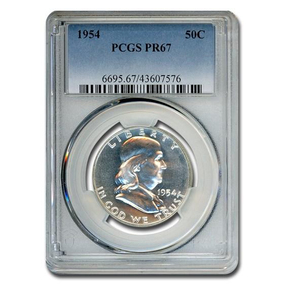 1954 Franklin Half Dollar PR-67 PCGS