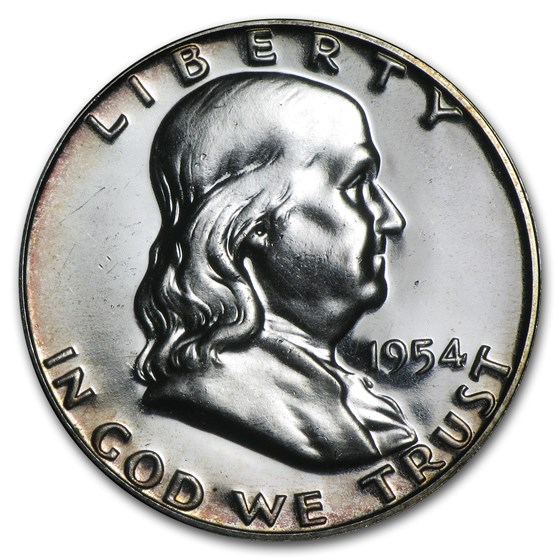 1954 Franklin Half Dollar Proof