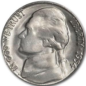 1954 Jefferson Nickel BU