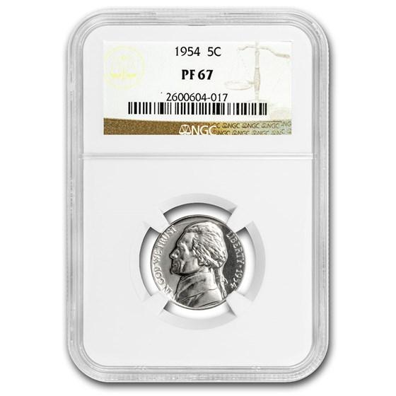 1954 Jefferson Nickel PF-67 NGC