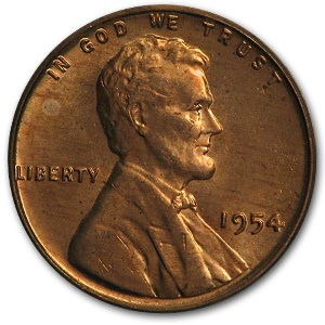 1954 Lincoln Cent BU (Red)