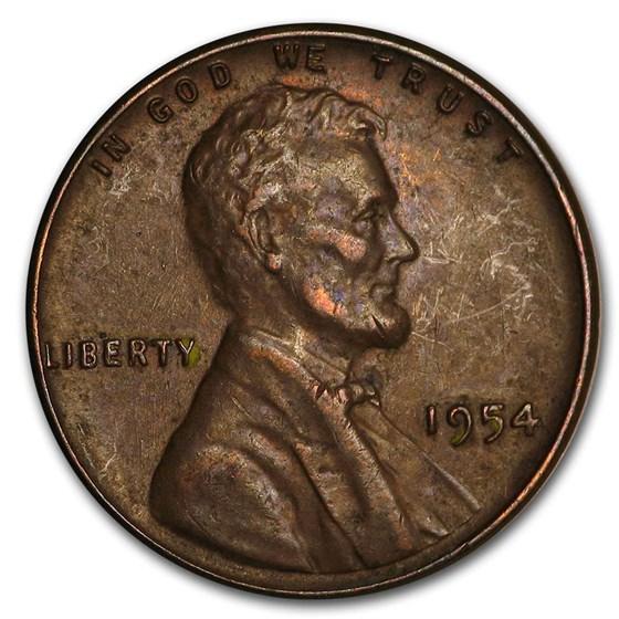 1954 Lincoln Cent Fine+